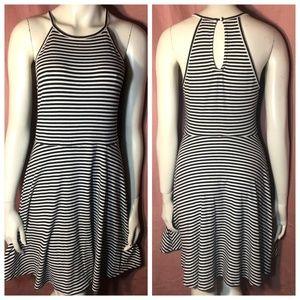 Dresses & Skirts - Striped Halter Skater Fit & Flare A-line Dress